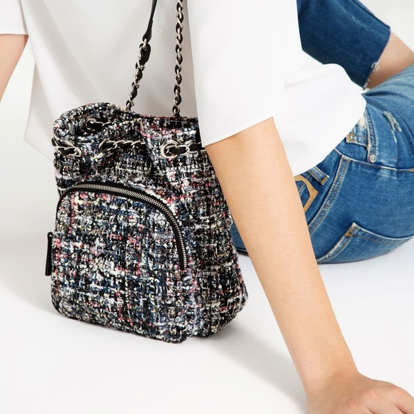 9087a5bf1b ZARA mini fabric quilted backpack. M 5bbd652fbaebf61d939a412b